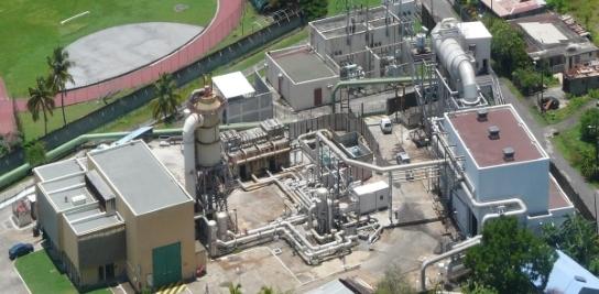 Centrale géothermique de Bouillante en Guadeloupe (Source : Géothermie Bouillante)